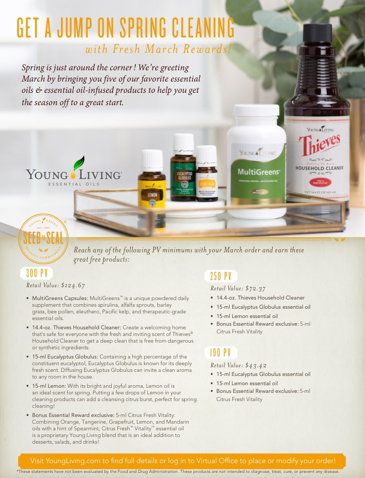 March Promotions Our Oil Well Young Living Essential Oils